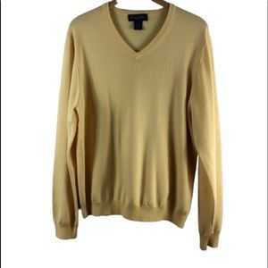 Brooks brothers yellow large sweater v neck